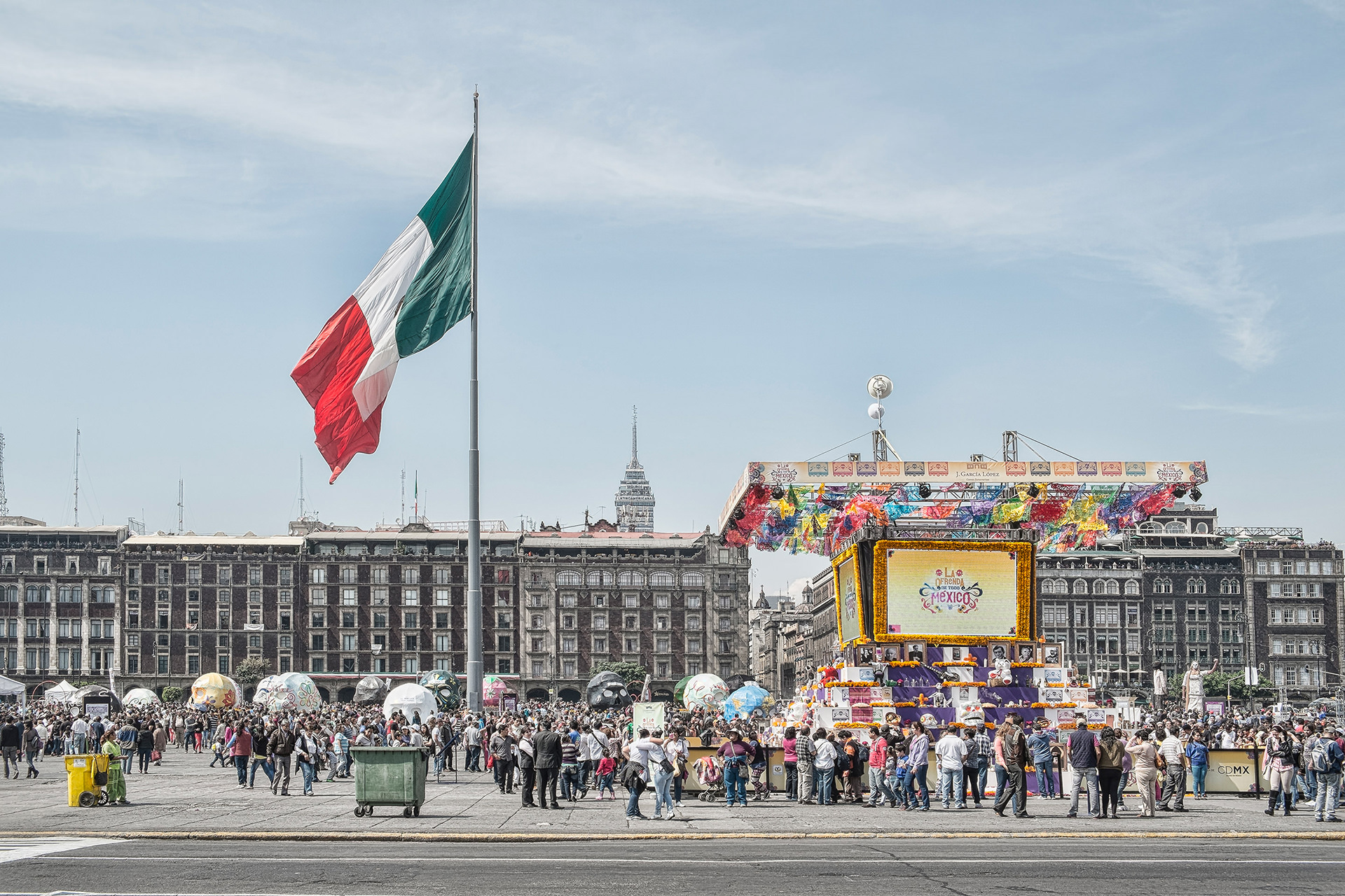 Zocalo in Mexico City at the Death Day
