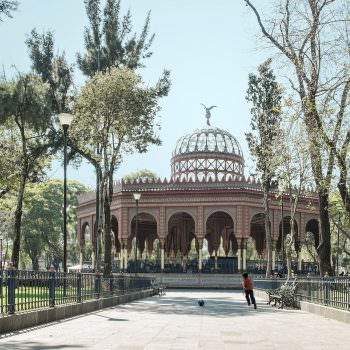 Quiosco of Santa Maria of the Rivera in Mexico City