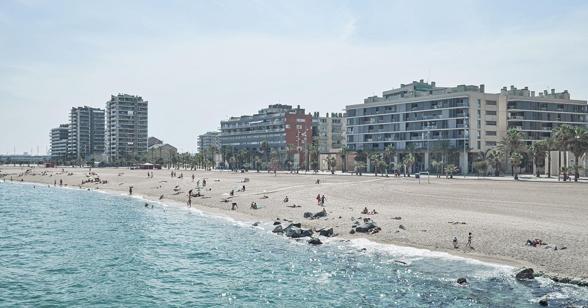 Badalona's beach in Barcelona