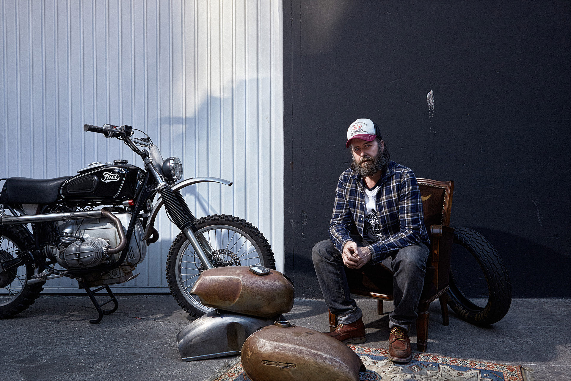 Portrait of Carles from Fuel Motorbike Store