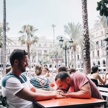 Lifestyle story about a gay couple visiting Barcelona